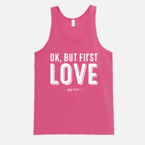 Ok but first LOVE Tank – Fuchsia | Gypsy Shoppe